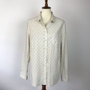 Merona Cotton Polka Dot Button Down Shirt